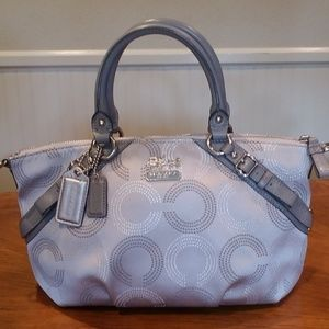 Coach silver logo purse